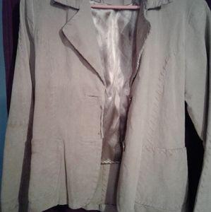 Vintage creme suede jacket